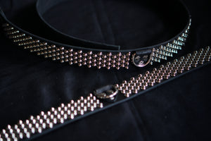 Small Cone 4-3-4 Studded Belt with D-Ring