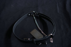 Leather chain belt goth