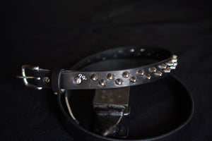 Studded punk belt with two rows of british cone studs