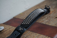 Hand made studded punk bracelet