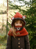Crochet pattern fox hooded cowl Reed