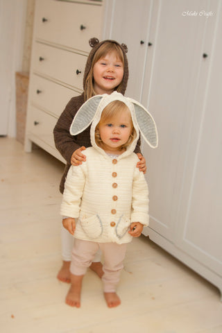 Crochet pattern hooded jacket Otis bunny