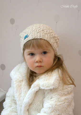 Knitting pattern beanie hat Eti