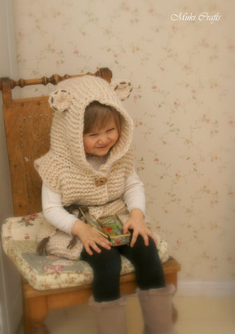 Knitting pattern bear vest Sheridan