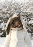 Knitting pattern bunny hooded cowl Windsor