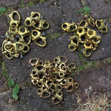 Swedish nautical brass shackles.