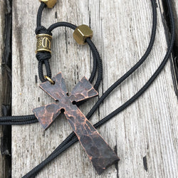 Handmade copper cross