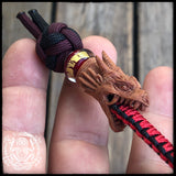 Hand carved Wooden Dragon Keychain