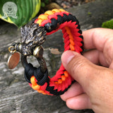 The Snarling Wolf paracord bracelet