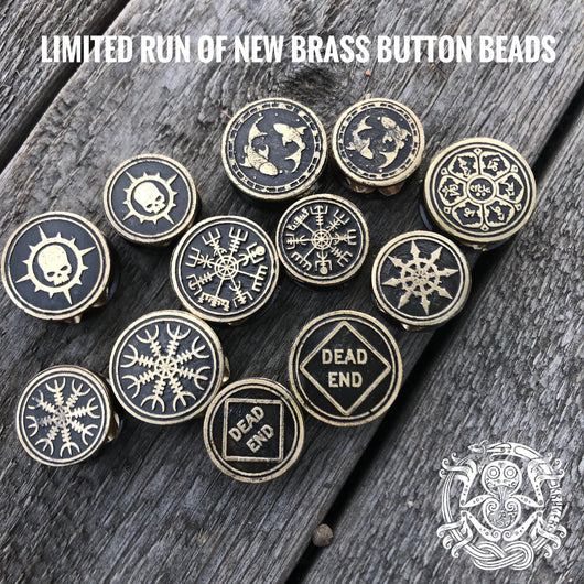 New limited brass button beads