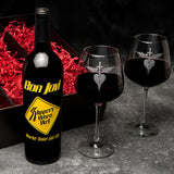 Slippery When Wet - Collectible Etched Wine