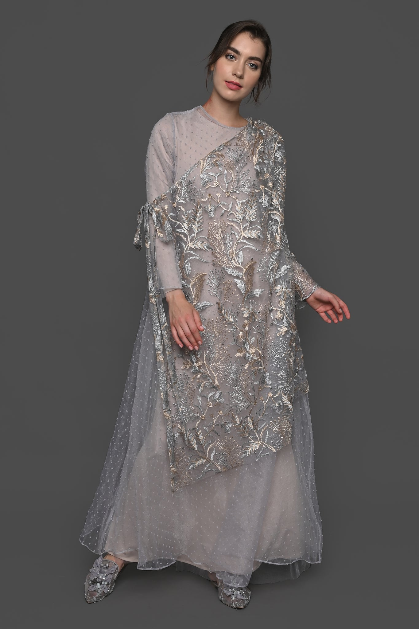 Rabhya Dress - Silver Gold