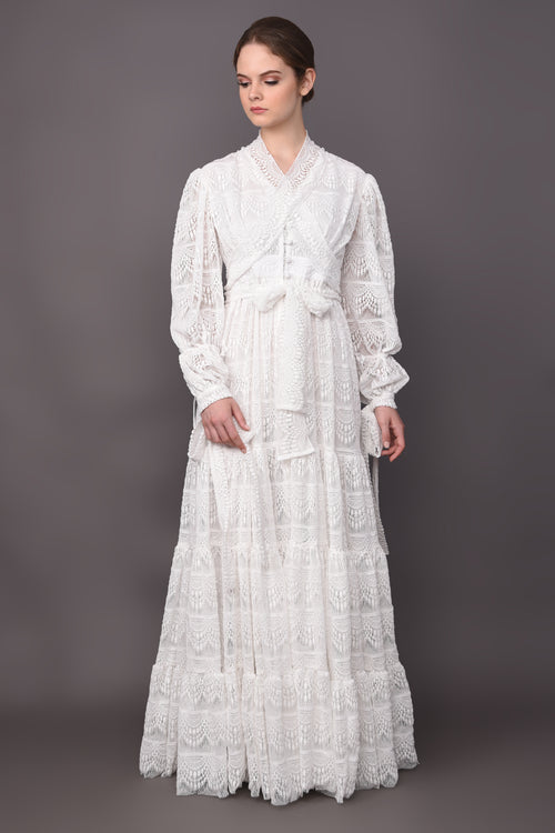 Eleonore Dress White - Ready Stock