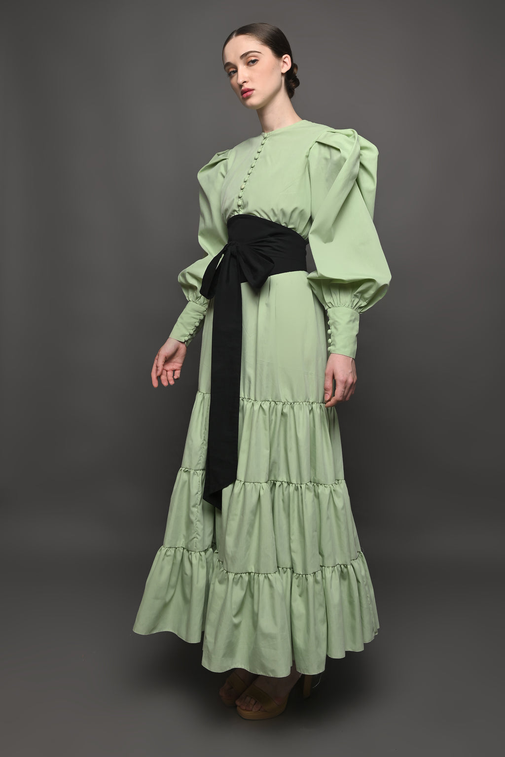 Ayoka Dress in Green