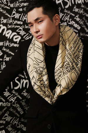 Scribble Scarf in Yellow