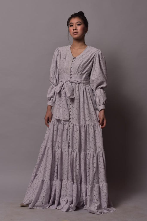 Eleonore Dress Grey Lavender - Pre-Order - Delivery 31 January 2019