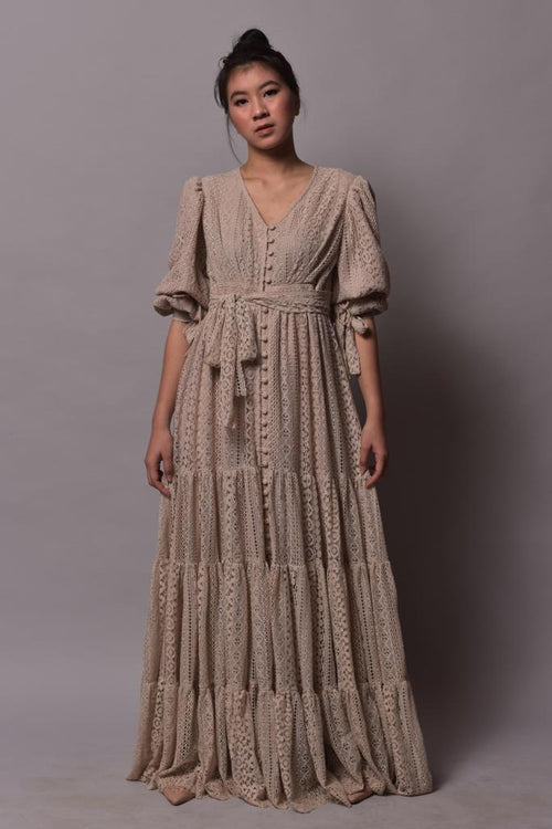 Eleonore Dress Beige - Pre-Order - Delivery 31 January 2019