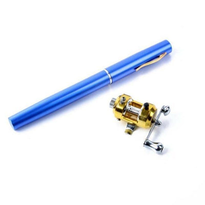 Mini Portable Pen Rod & Reel Combo