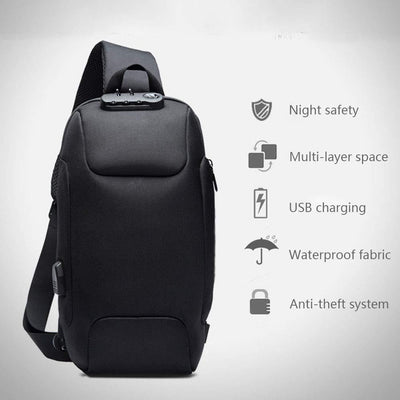 Anti Theft Padlock Backpack