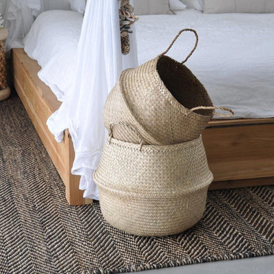 Handle Storage Bellied Basket
