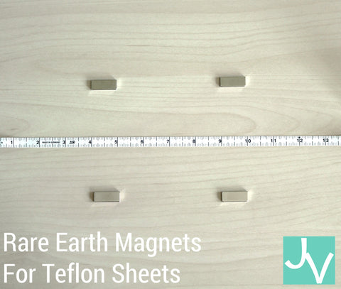 JamakVinyl - JamakVinyl Set of Four Rare Earth Magnets for Teflon Sheets and Heat Presses