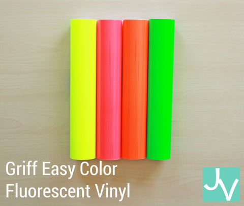 JamakVinyl - Griff Easy Color Fluorescent Permanent, Outdoor Glossy Vinyl Griff