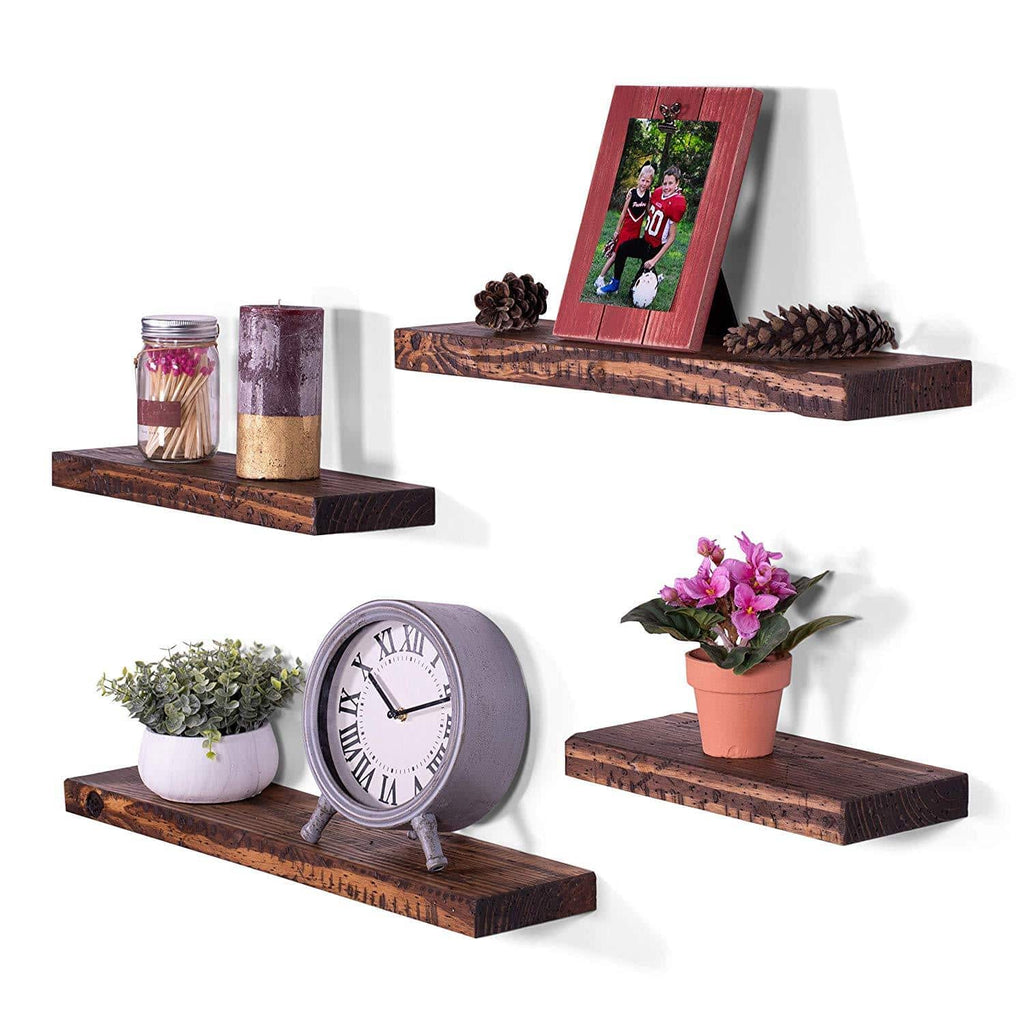 Rugged Distressed Pine Floating Shelves (Set of 4) - DAKODA LOVE