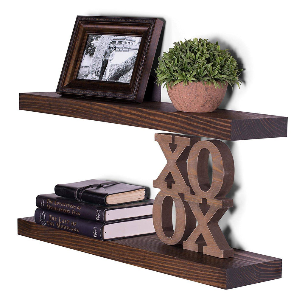 Clean Edge Pine Floating Shelves (Set of 2) - DAKODA LOVE