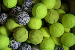 Real tennis balls made out of cork