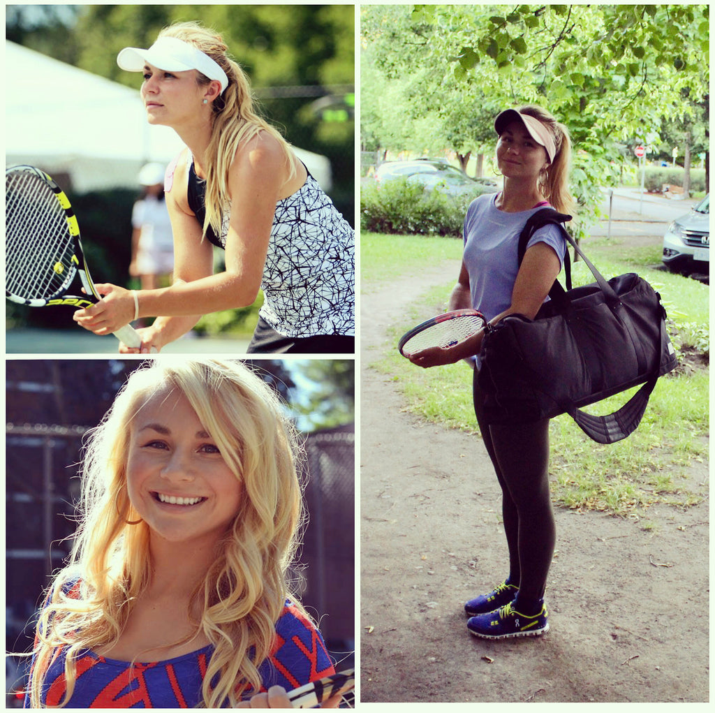 Petra Januskova Tennis Professional with the Epirus Dynamic Duffel