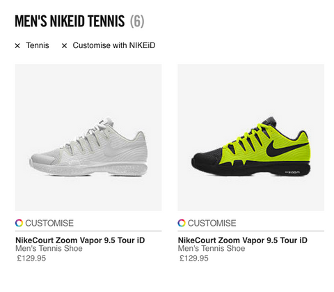 NikeID Personalized Tennis Shoes