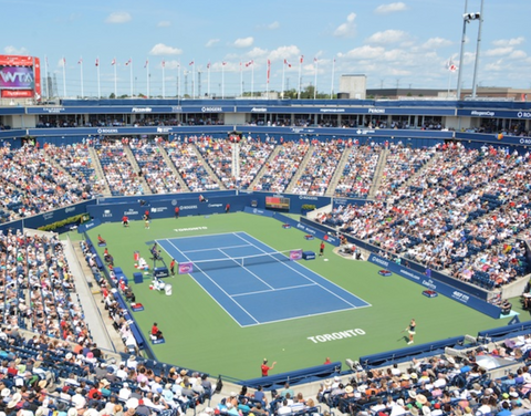 Rogers Cup tennis court in Toronto Canada recommended by Epirus