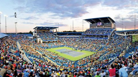 Western and Southern Open tennis court in Mason Ohio - Epirus travel guide