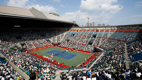 Rautken Open tennis stadium in Tokyo Japan - Featured in Epirus travel guide