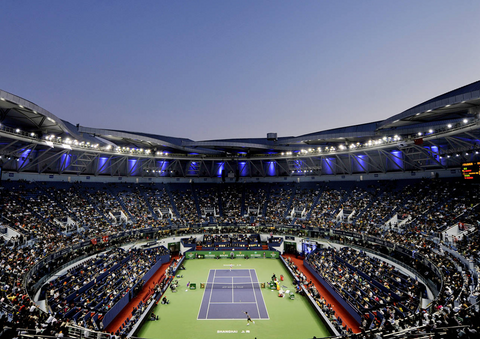 Shanghai Rolex Masters stadium - Featured in Epirus tennis travel guide