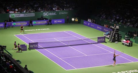 WTA Tour Finals tennis stadium in Singapore - Featured in Epirus travel guide 2018