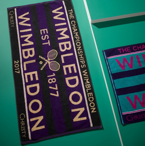 Personalized gift of Wimbledon tennis towels