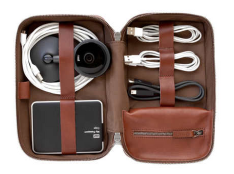 Travel cord organizer - Featured in the Epirus guide to travel accessories