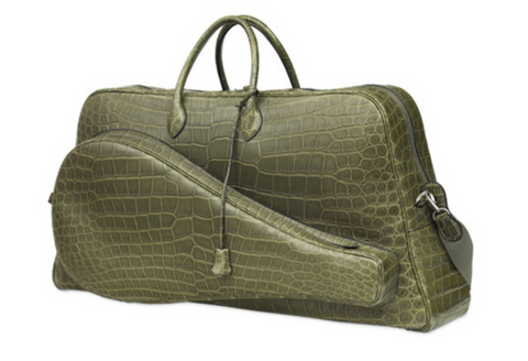 Hermes Lacoste limited edition crocodile skin tennis bag