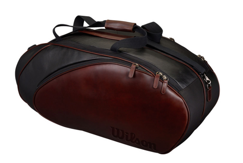 Wilson Brown Leather tennis bag
