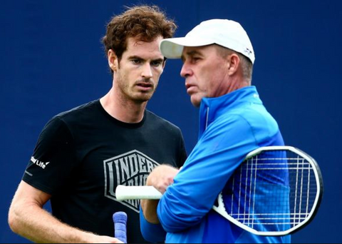 Lendl and Murray on the tennis court