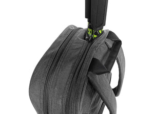 Epirus Borderless Backpack Grey Tennis Bag Top Side View