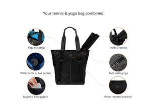 Epirus Transition Tote Black Tennis Bag Features Overview