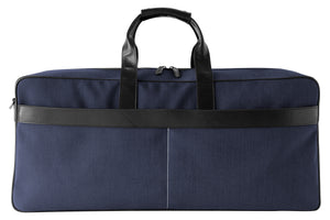 Epirus large weekend bag in blue front view