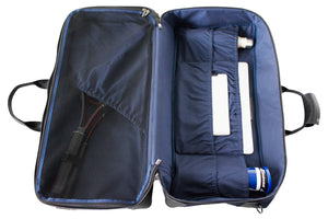 Epirus large weekend bag in blue interior view