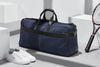 Epirus medium weekend bag in blue with tennis racket