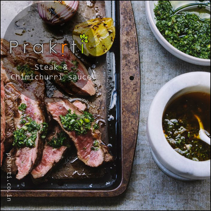 Steak with Chimichurri Sauce - Prakrti Blog - South American Cuisine