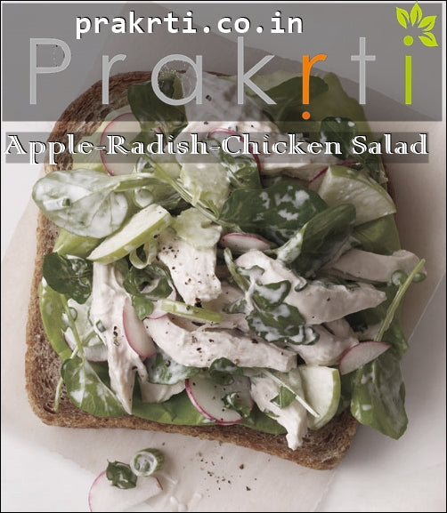 Salad Recipe - Apple, Radish and Chicken