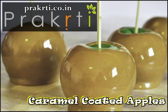 Caramel Coated Delightful Frozen Apples