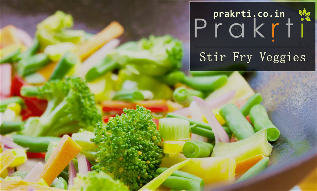 Stir Fry Vegetables with Indian 5 Spices